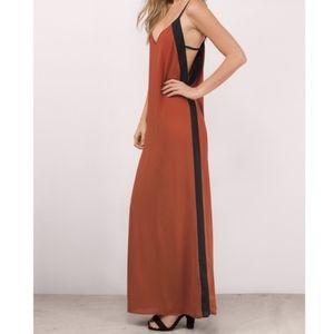 NWT Tobi Maxi Dress Orange Black Size M